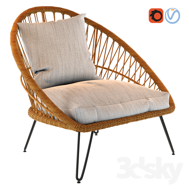 PINEAPPLE Resin Wicker Garden Armchair