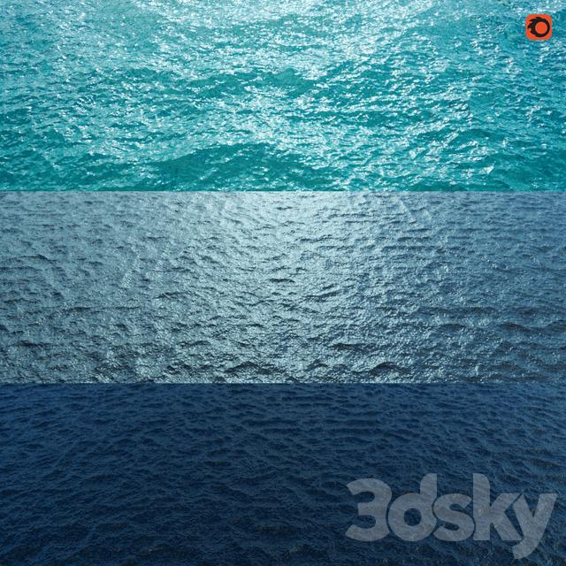 3d models: Liquid - Sea water material