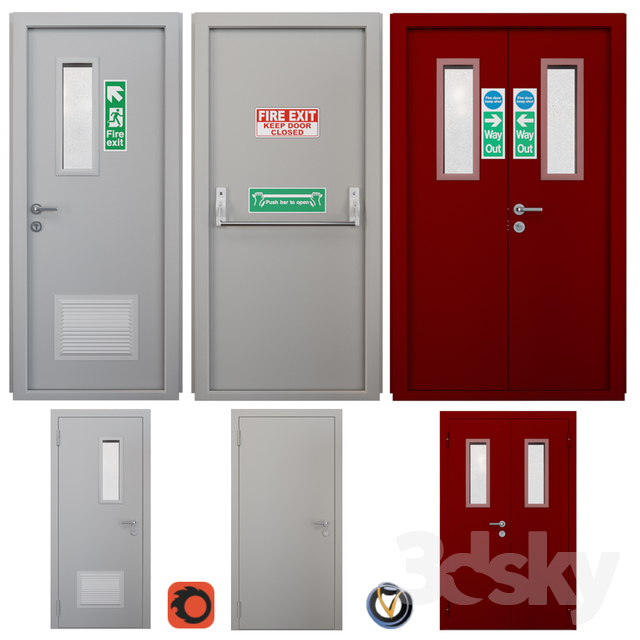 Fire door 2 (3 pcs.)