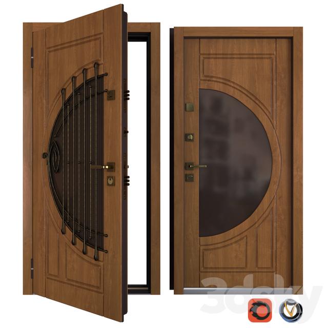 The entrance metal door Harp (Your Frame)