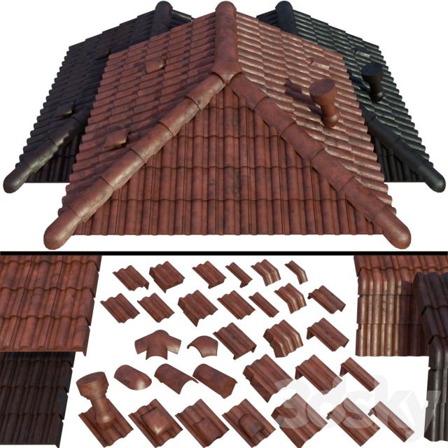 3d models: Other architectural elements - Ceramic roof tiles