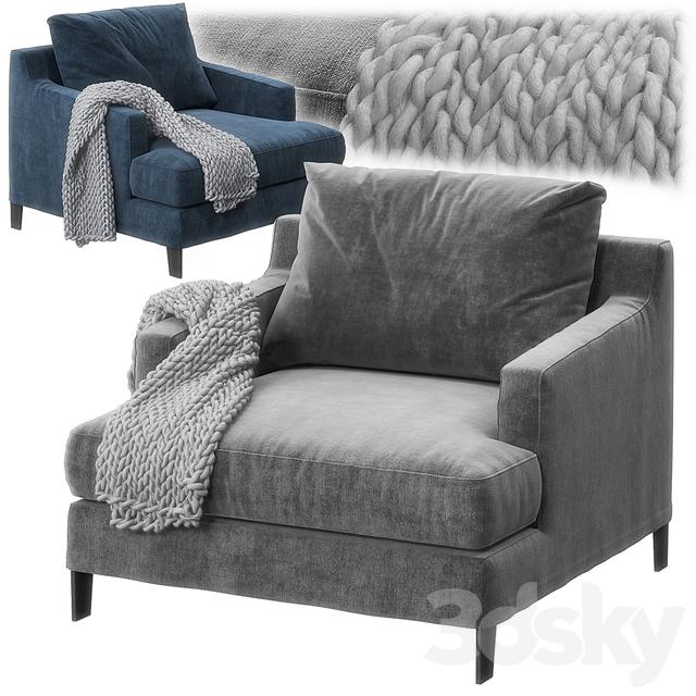 Bellport armchair by Poliform