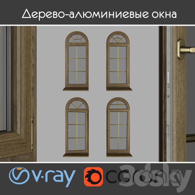 Wood - aluminum windows, view 04 part 02 set 02