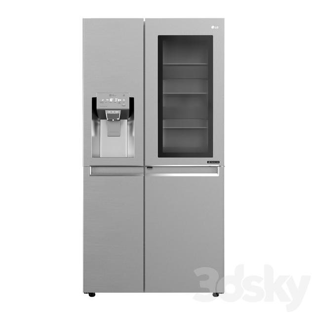 LG InstaView Door-in-Door Refrigerator with Non-Plumbed Water and Ice Dispenser