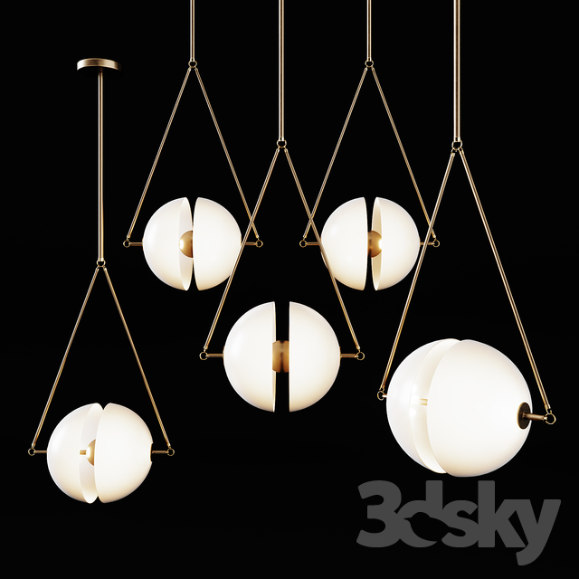 3d models: Ceiling light - Hanging lamp Bagens