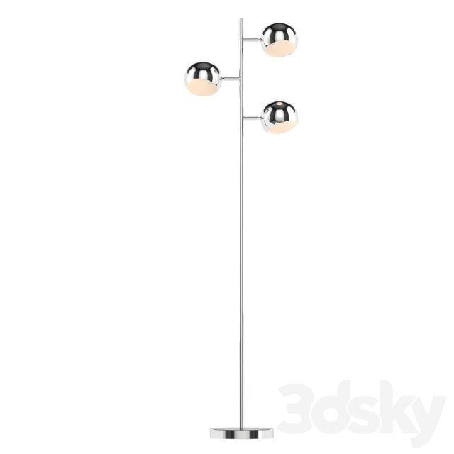 Kare Floor Lamp Calotta Chrome
