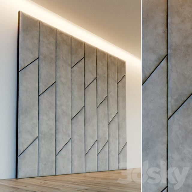 Decorative wall. Soft panel. 54