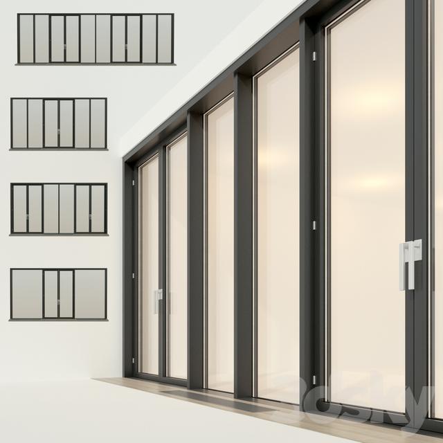 Panoramic glazing. Stained glass window 21