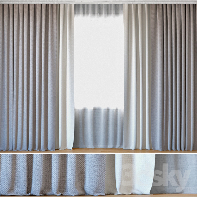 Curtains 103 | Curtains with Tulle | ROHI | Crado