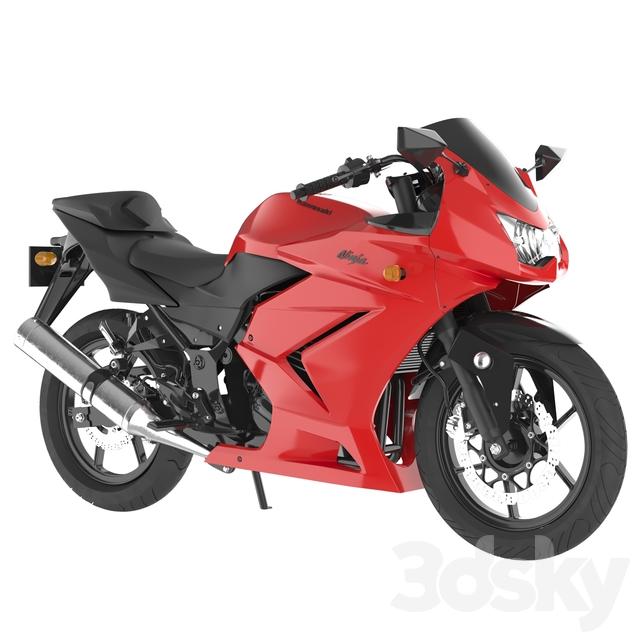 3d models: Transport - motorbike