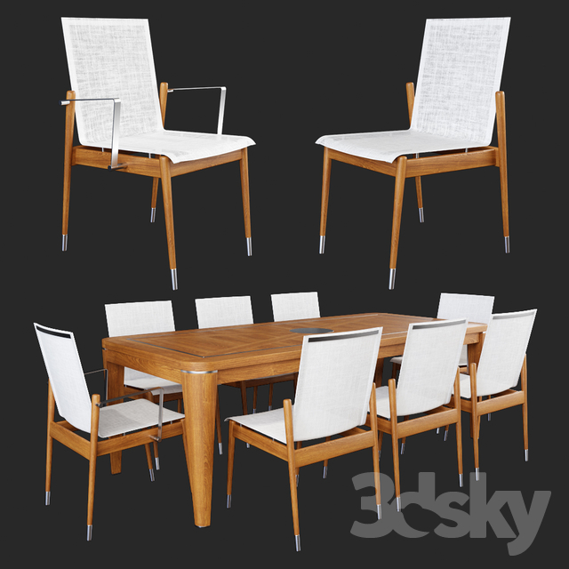 Dining table and armchair by atmosphera