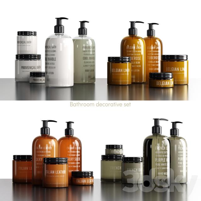 3d models: Bathroom accessories - Restoration Hardware decorative set