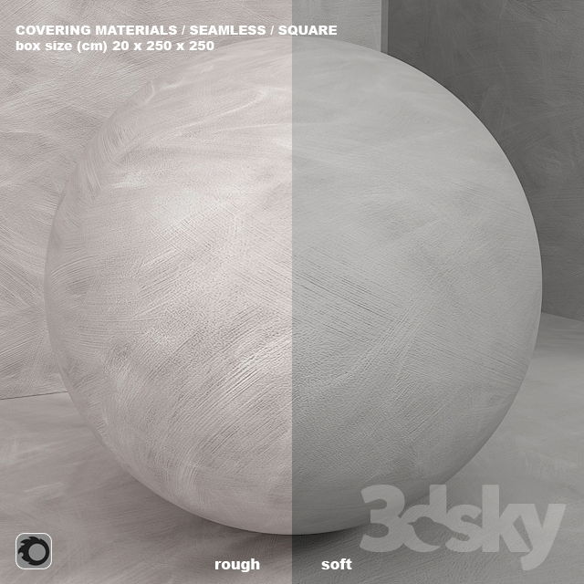 Material (seamless) - concrete plaster set 107