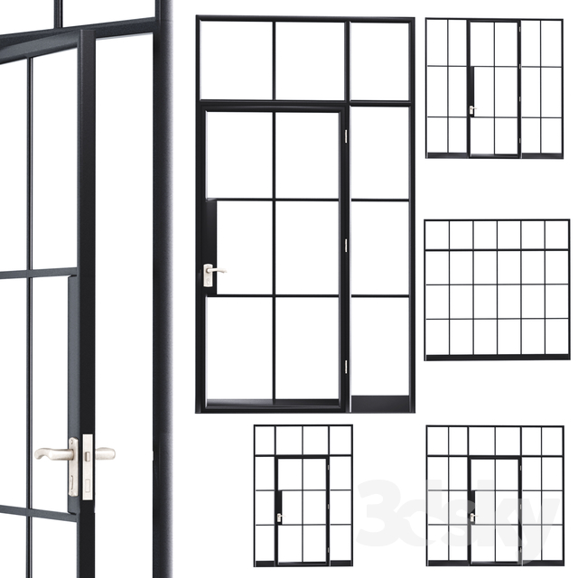 Steel door. Partition set 1