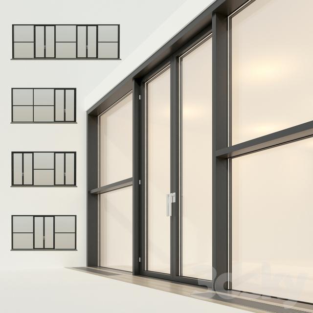 Panoramic glazing. Stained glass window 24