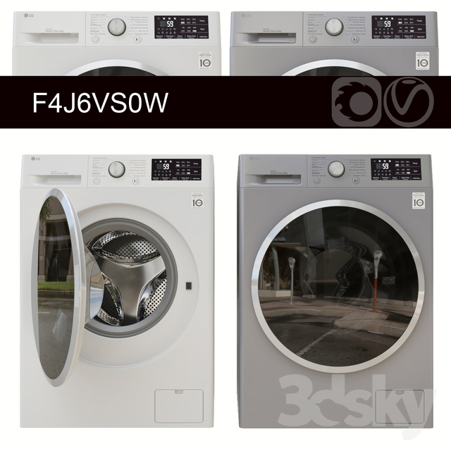 Washing Machine LG F4J6VS0W
