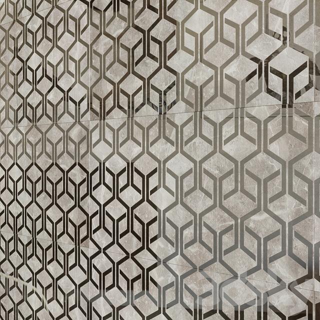 Decorative elements ATLAS CONCORDE MARVEL PRO Gray Fleury Hexagon