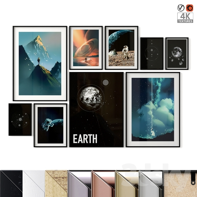 "Poster Set ""Space"""