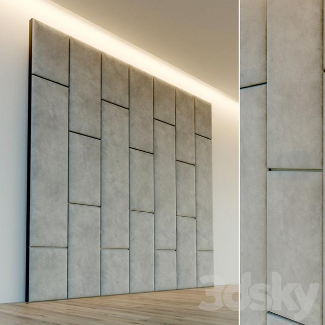 Decorative wall. Soft panel. 61