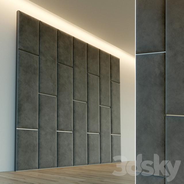 Decorative wall. Soft panel. 62