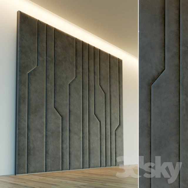 Decorative wall. Soft panel. 64