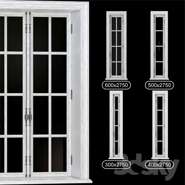 PART_3 COLLECTION FRENCH WINDOWS 300-600_mm (V-ray_Corona)