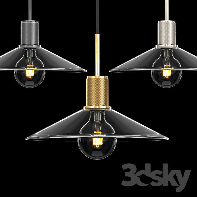 UTILITAIRE SLOPE GLASS SHADE PENDANT
