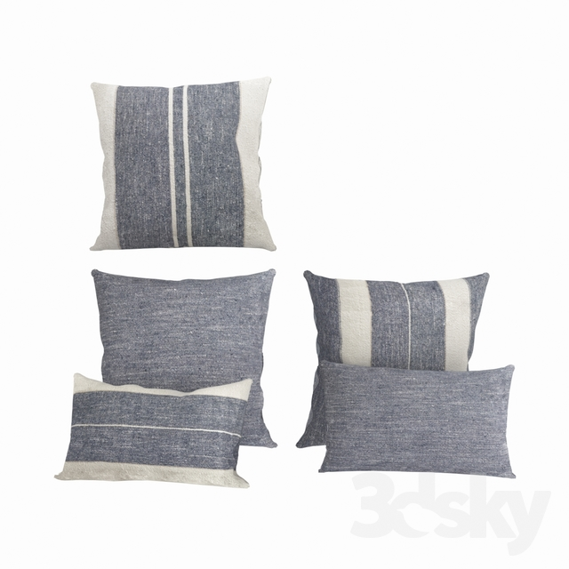 Restoration Hardware Belgian Linen & Cotton Textured Cushions