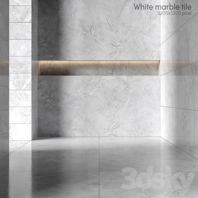 White marble tiles 2