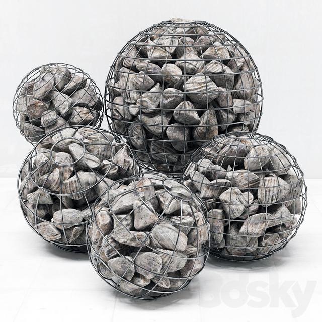 Gabion sphere rock stone / Gabion sphere from rocky stone