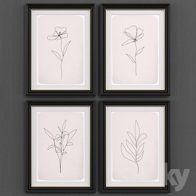 Botanical line abstract