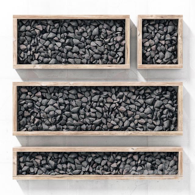 Gravel frame / Gravel in the forms
