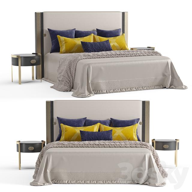 Turri Plaza bed and DORIS Opera bedside tables