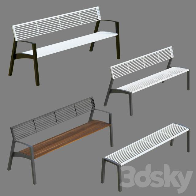 Park bench MMCITE Vera