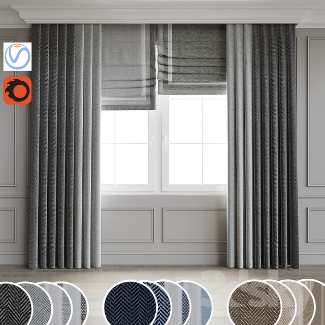 Contemporary style curtain 8