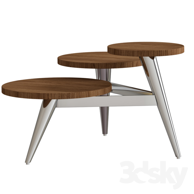 Wood And Metal Multi Level Coffee Table.3d Models Table Wood And Metal Multi Level Coffee Table2