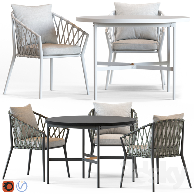 Globewest Maui Armchair and Morgan Table