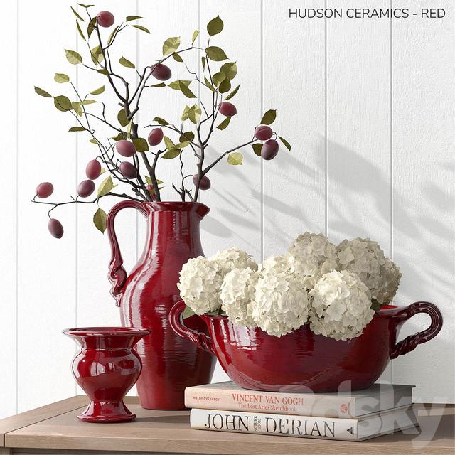 Pottery Barn HUDSON CERAMICS - RED