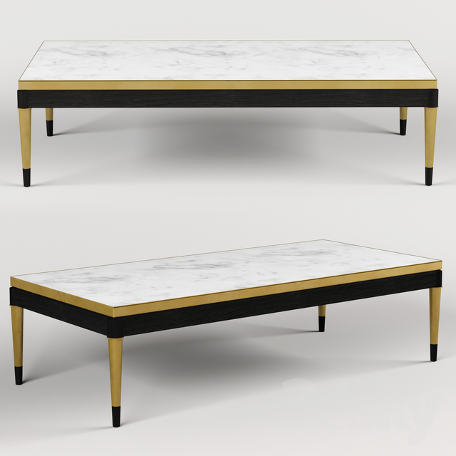 Coffee table Jonathan Charles Fine Furniture JC Modern - Fusion Collection 500198-ENO-M025