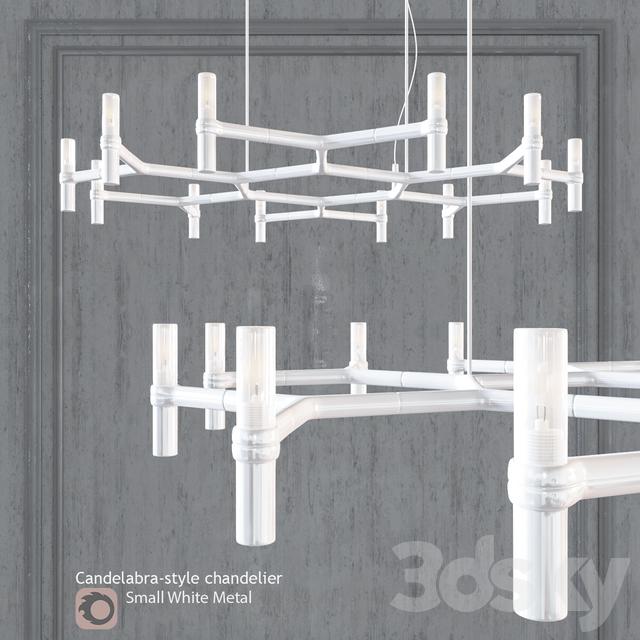 Chandelier EQUINOX CHANDELIER Small White Metal