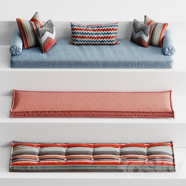 Set of mattresses for windowsill