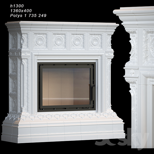 Tiled fireplace 04