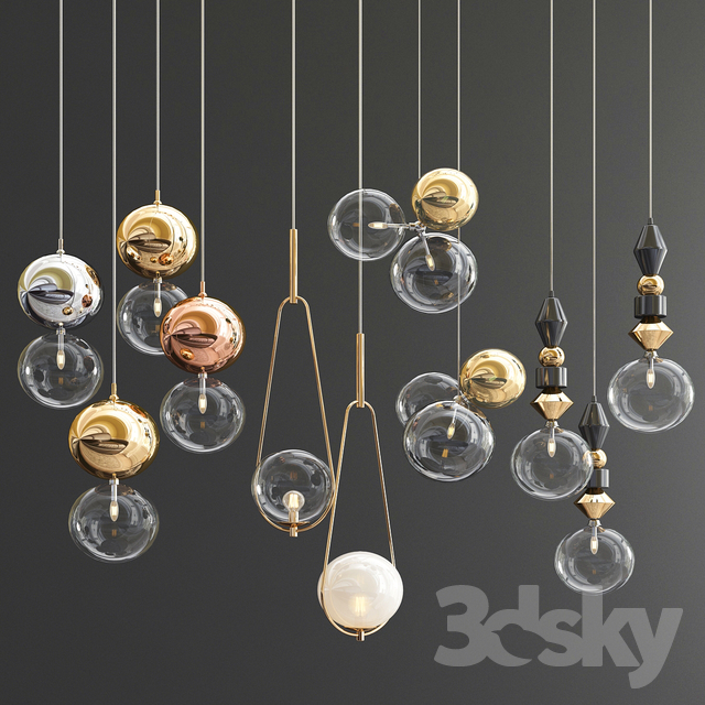 Four Hanging Lights_41 Exclusive Glass Ball