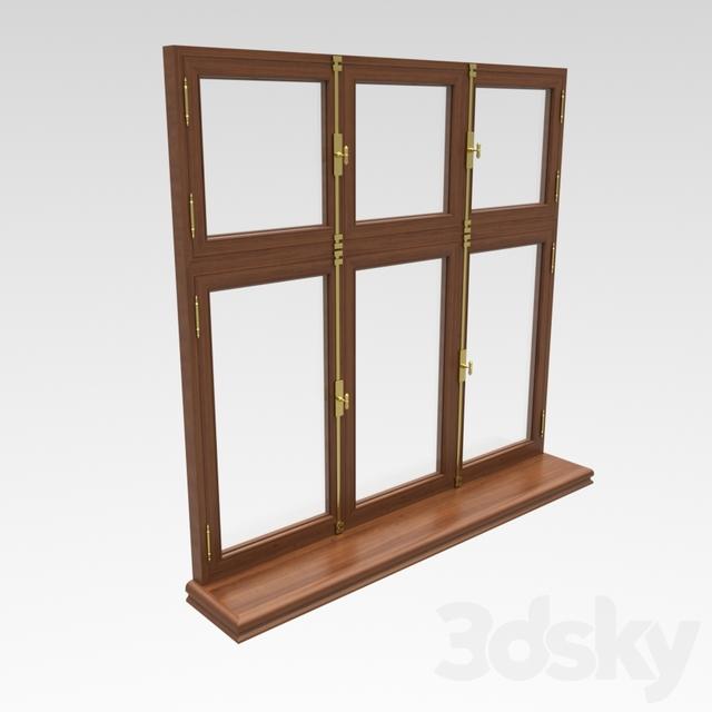 classic wooden window sill