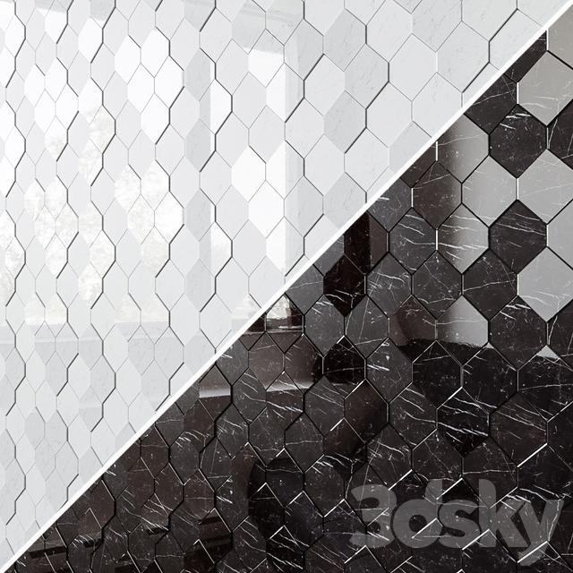 ATLAS CONCORDE MARVEL STONE Mosaico Esagono 3D