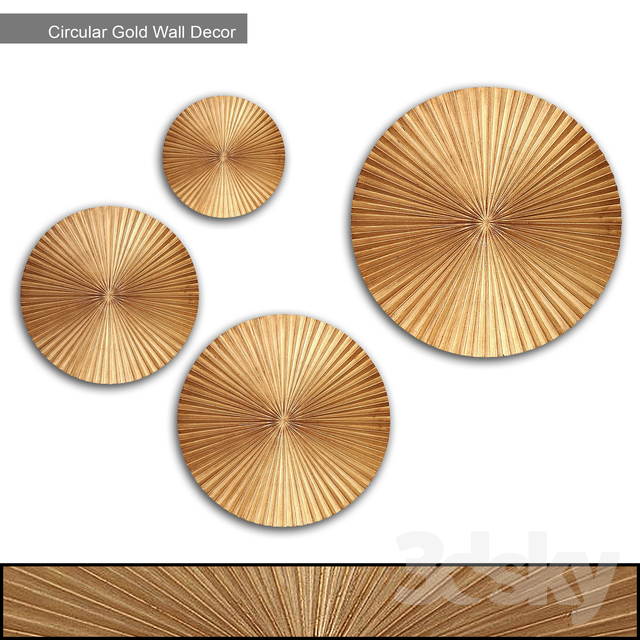 Willa Arlo Interiors - Circular Gold Wall Decor