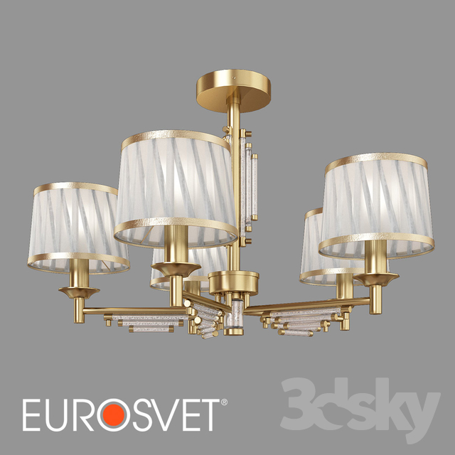 OM Ceiling chandelier with lampshades Eurosvet 60081/5 Amalfi