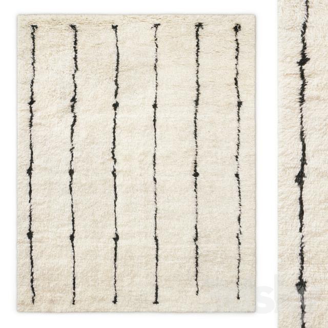 Corsivo Hand-Knotted Wool Rug RH