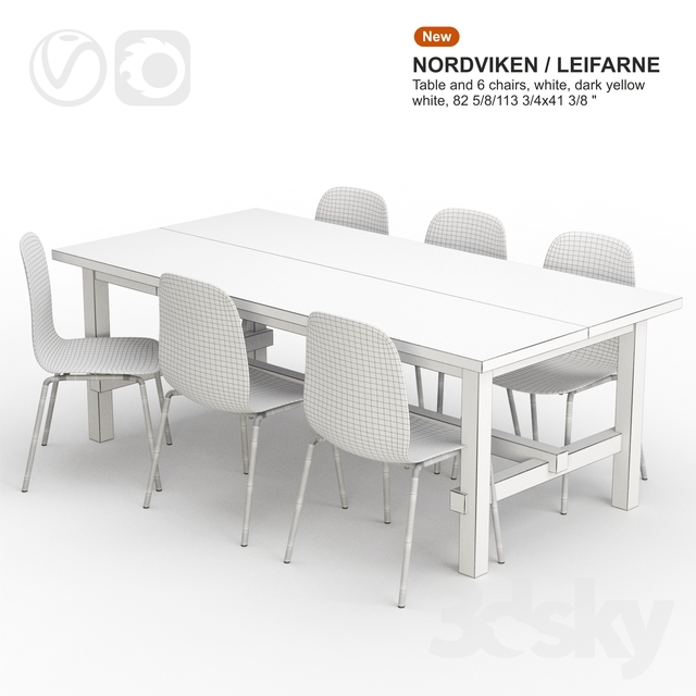 Groovy 3D Models Table Chair Ikea Nordviken Leifarne Table Gmtry Best Dining Table And Chair Ideas Images Gmtryco