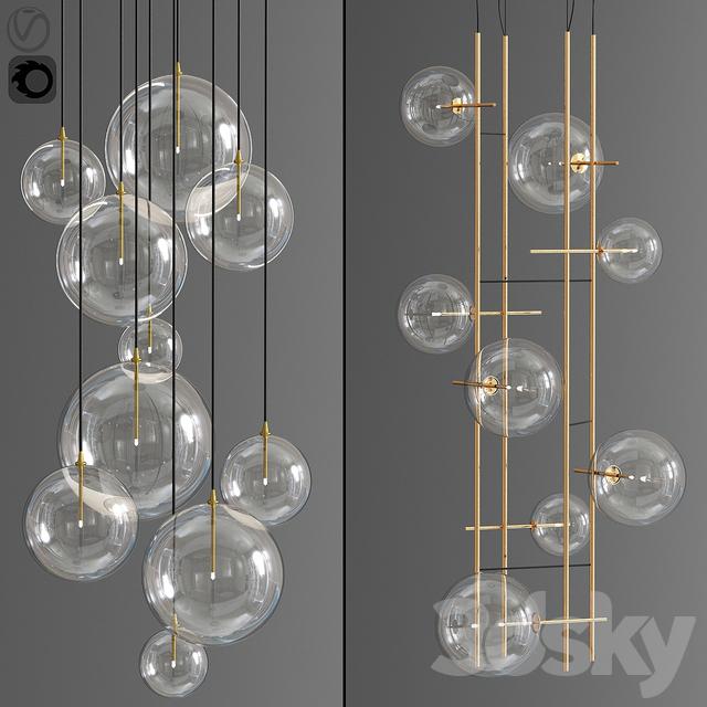 Bolle Tela Gallotti And Magic pendant Cluster Ceiling Light